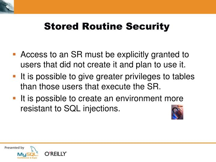Stored Routine Security