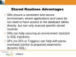 stored routines advantages1