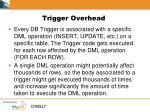 trigger overhead
