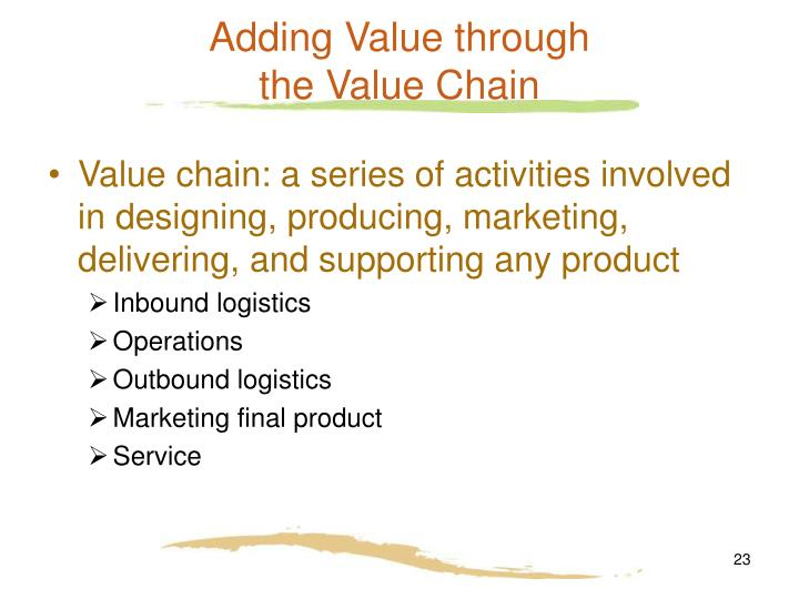 Adding Value through