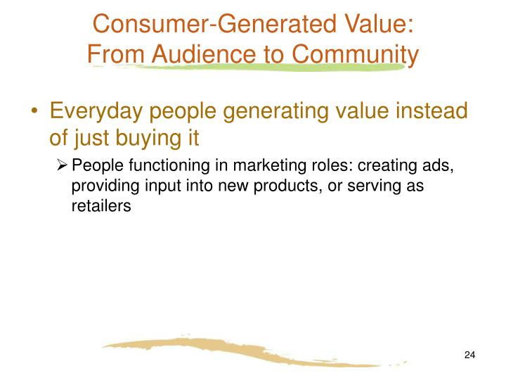 Consumer-Generated Value: