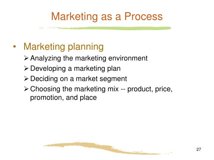 Marketing as a Process