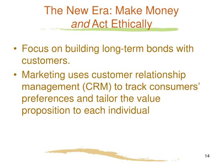 The New Era: Make Money