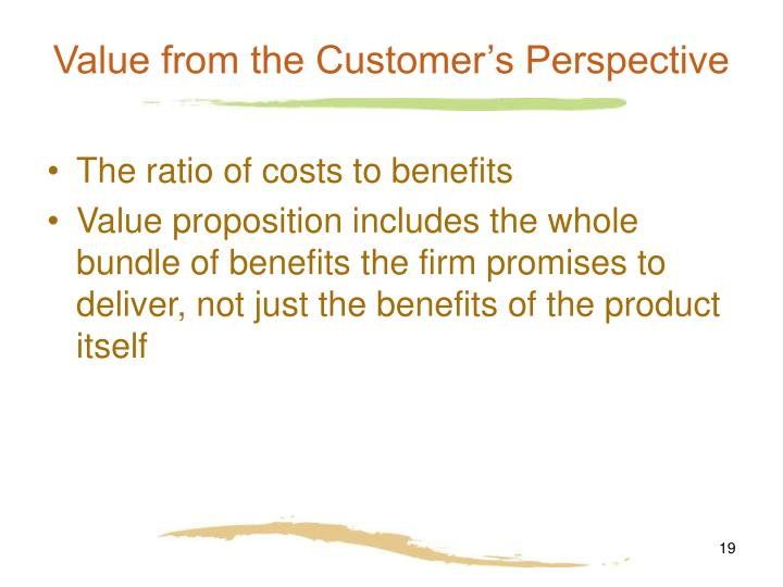 Value from the Customer's Perspective