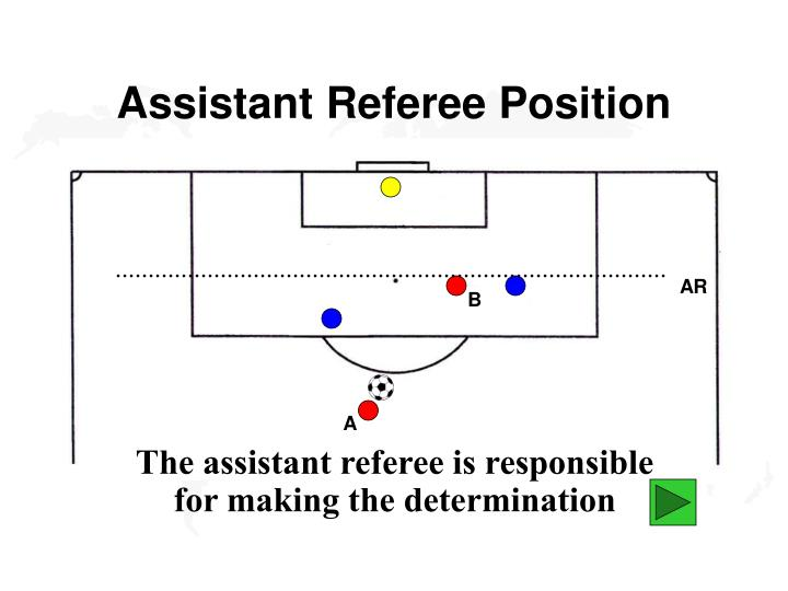 Assistant Referee Position