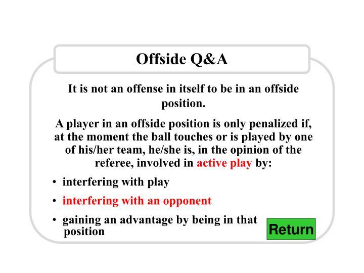 Offside Q&A