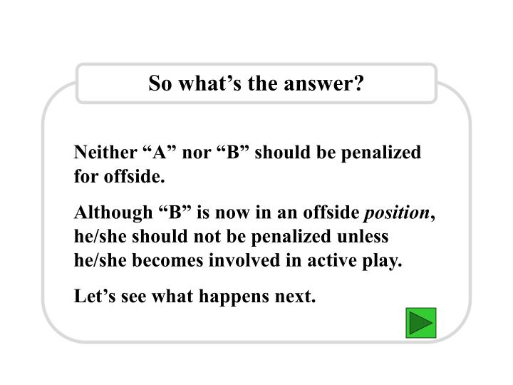 So what's the answer?