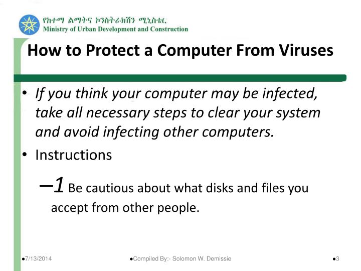 How to protect a computer from viruses