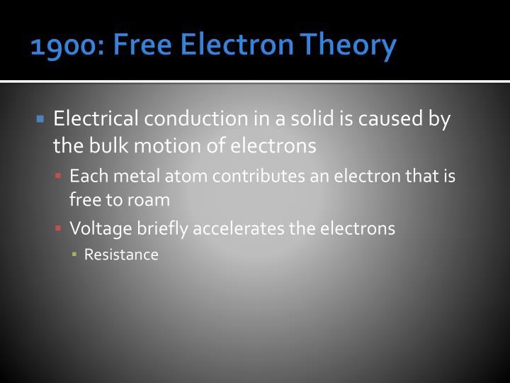 1900: Free Electron Theory