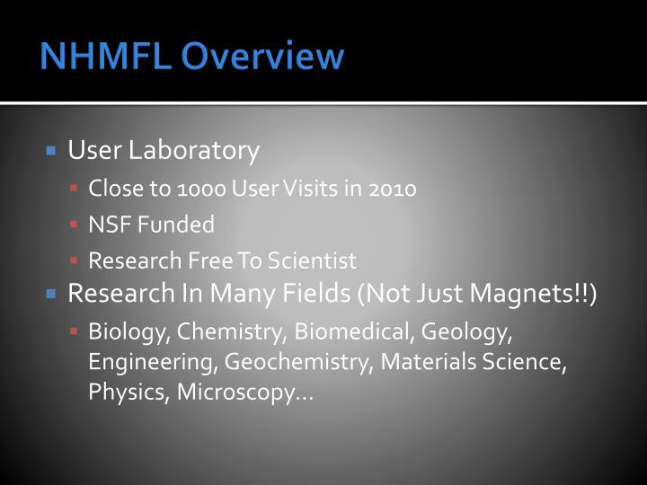 NHMFL Overview