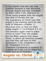 angels vs christ