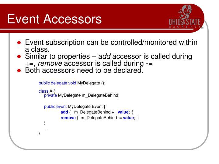 Event Accessors