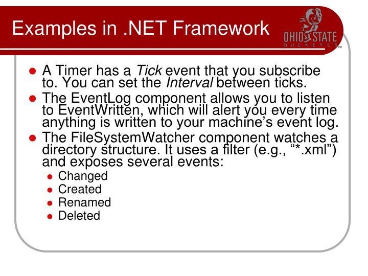 Examples in .NET Framework
