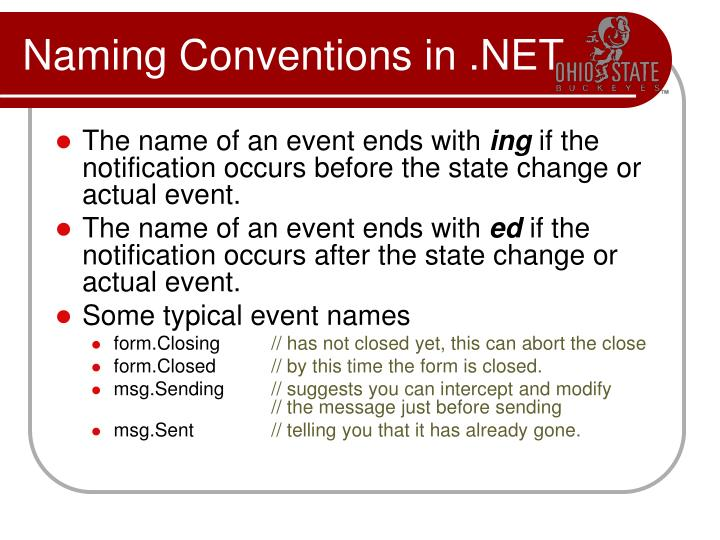 Naming Conventions in .NET