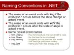 naming conventions in net