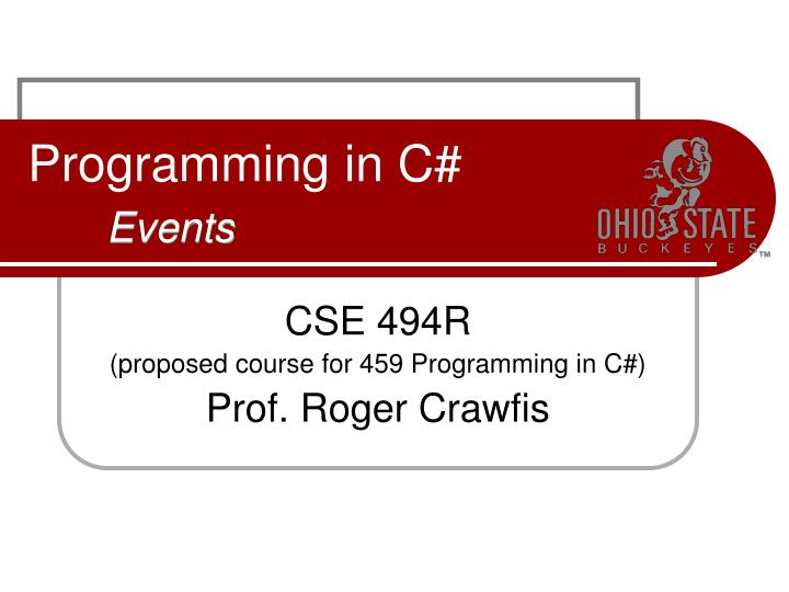 programming in c events