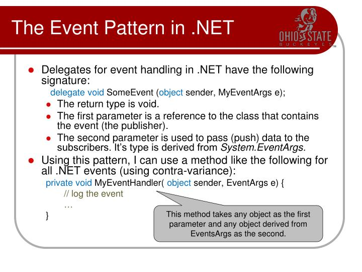The Event Pattern in .NET