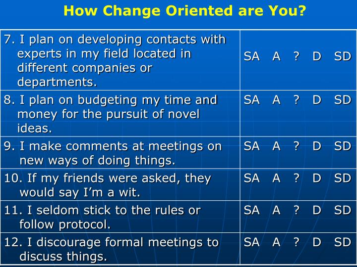 How Change Oriented are You?
