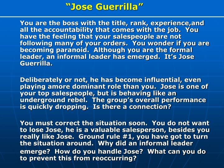 """Jose Guerrilla"""