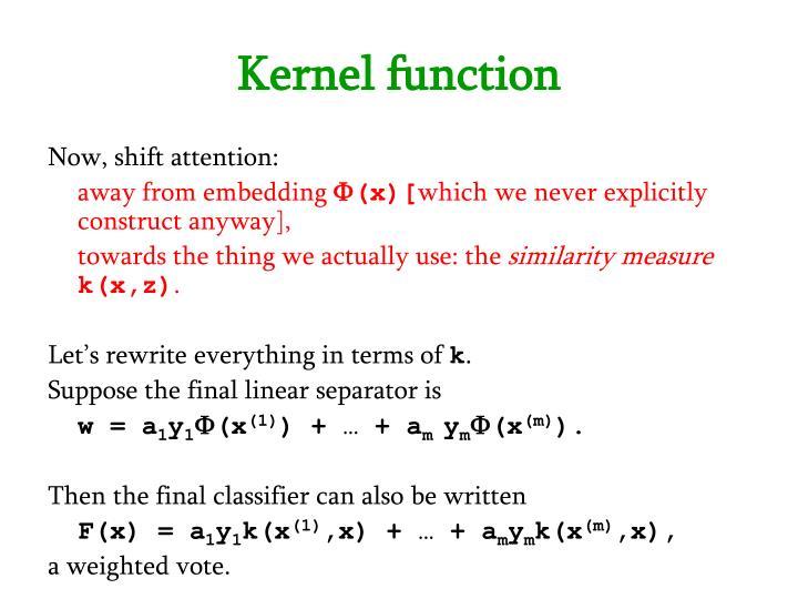 Kernel function