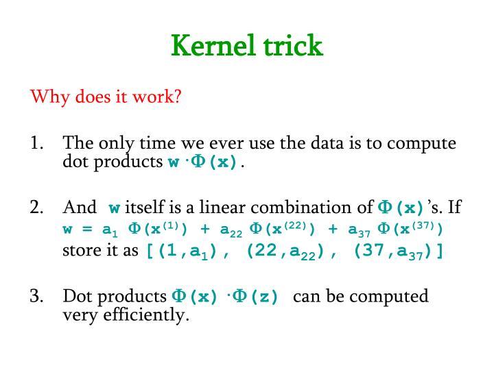 Kernel trick