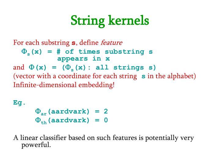 String kernels