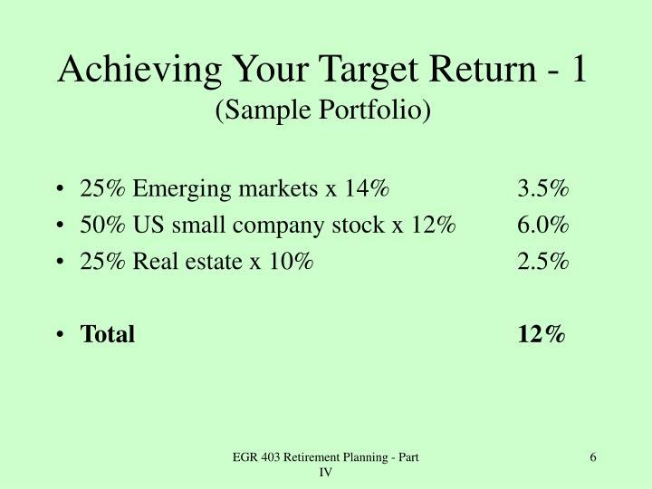 25% Emerging markets x 14%
