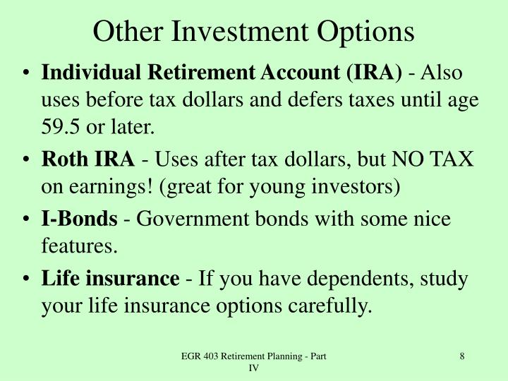 Other Investment Options