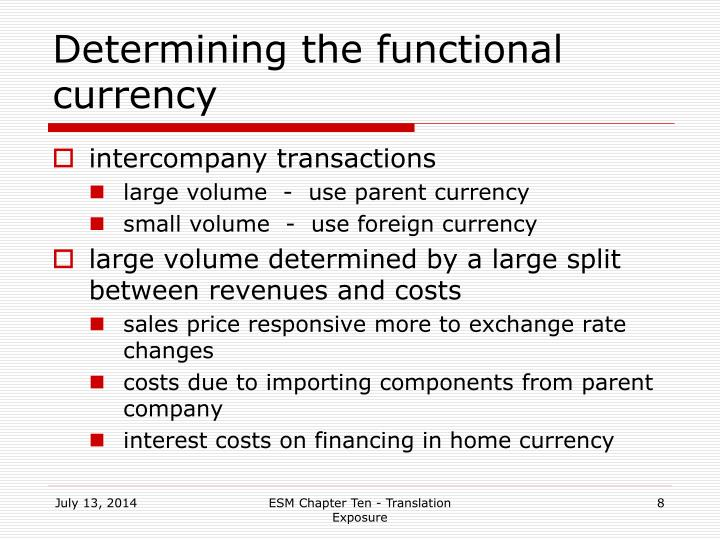 Determining the functional currency