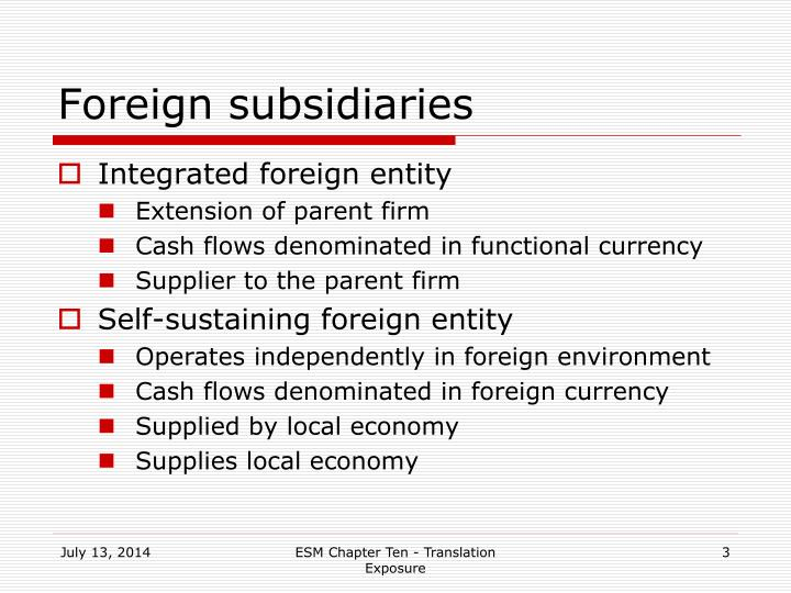 Foreign subsidiaries