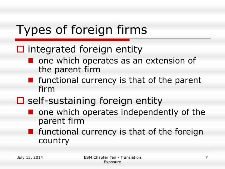 Types of foreign firms