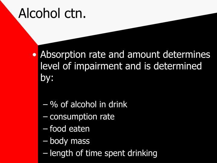 Alcohol ctn.
