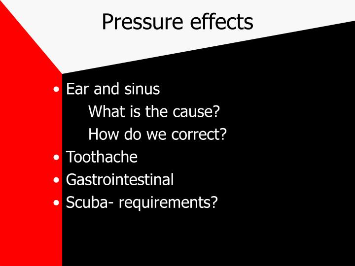 Pressure effects