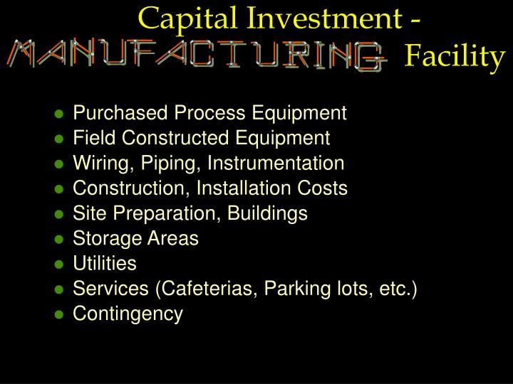 Capital Investment -