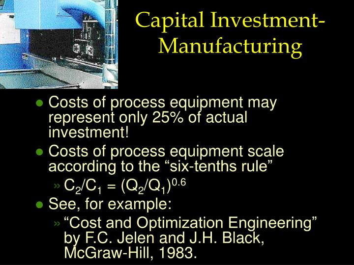 Capital Investment- Manufacturing