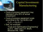 capital investment manufacturing