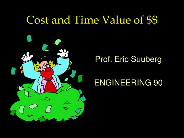 Cost and Time Value of $$
