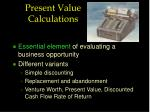 present value calculations