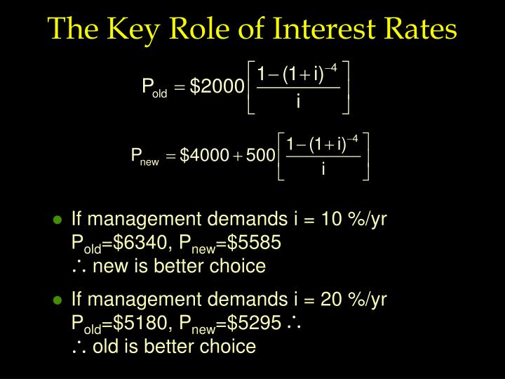 If management demands i = 20 %/yr