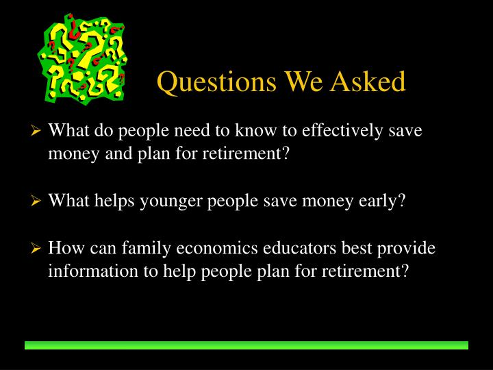 What do people need to know to effectively save money and plan for retirement?