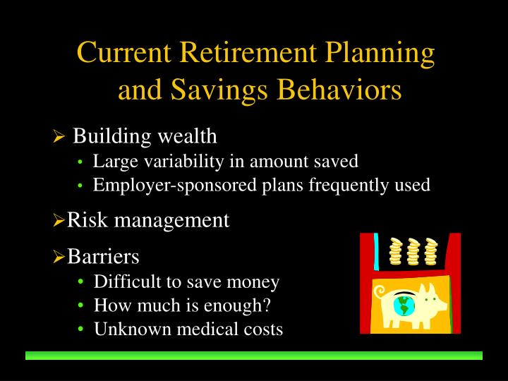Current Retirement Planning