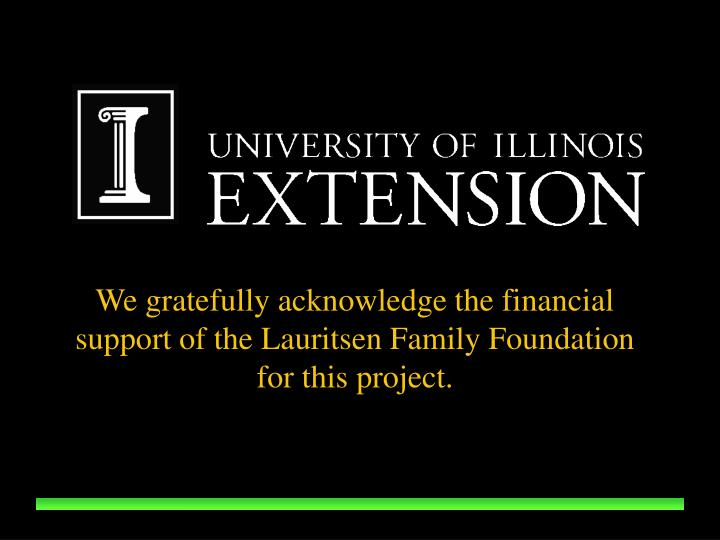 We gratefully acknowledge the financial support of the Lauritsen Family Foundation for this project.