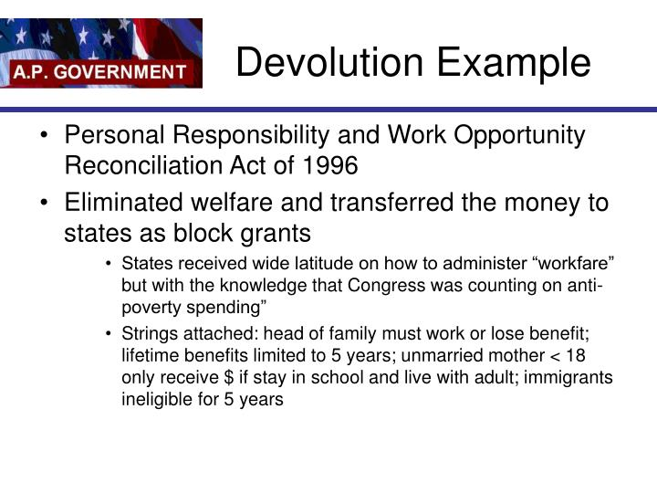 Devolution Example