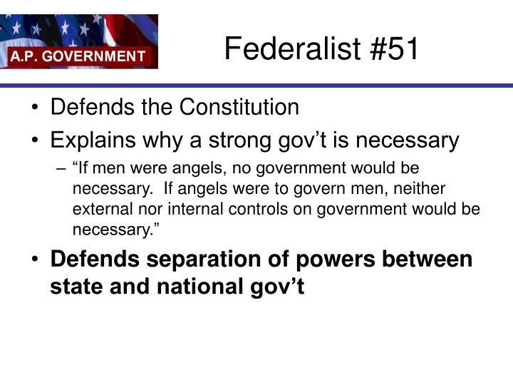 Federalist #51