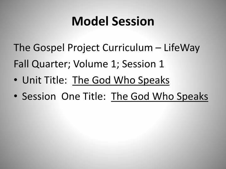 Model Session