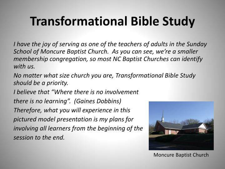 Transformational Bible Study