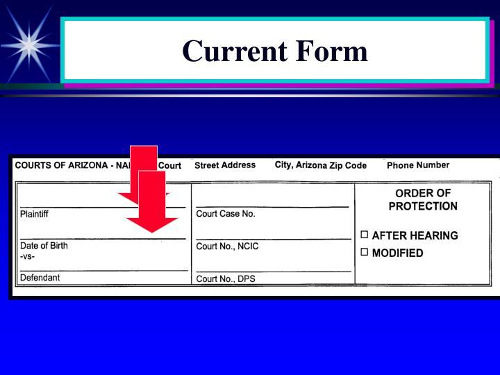 Current Form