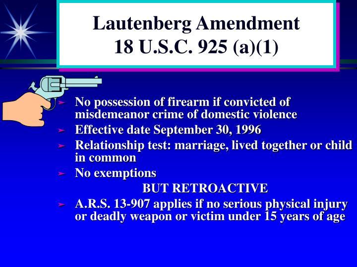 Lautenberg Amendment
