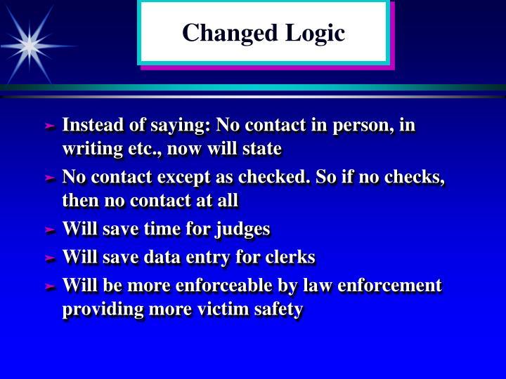 Changed Logic