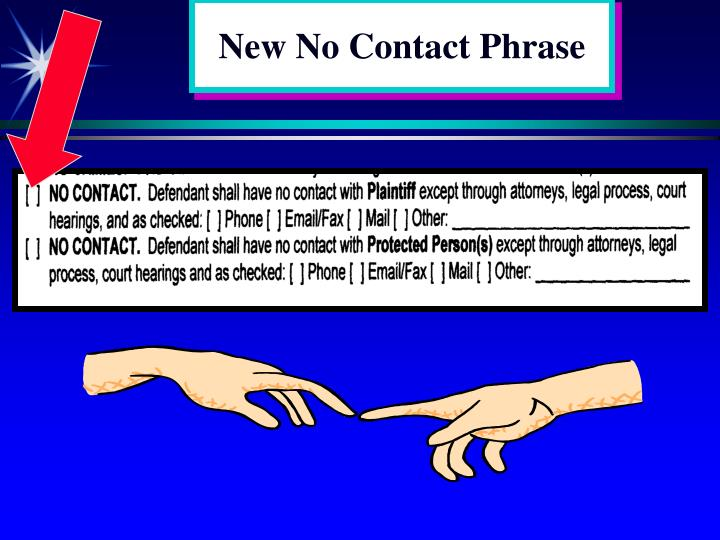 New No Contact Phrase